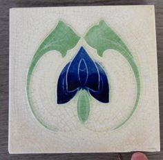 """Original English Art Nouveau tile , c1905 6""""X6""""Tile 313 L"""