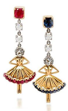 Van Cleef & Arpels ballerina earrings circa 1950