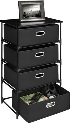 4 Drawer Storage End Table