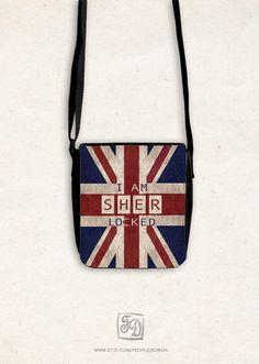 SHERlocked - shoulder bag SHERLOCK HOLMES, Union Jack on Etsy, $30.00