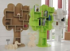 Kids Bookshelf Shapes
