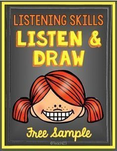 FREE LISTENING SKILLS ACTIVITY: Before you can effectively teach procedures, your students need to listen and attend to what you are saying. I like to strengthen my students' listening skills with activities like Listen Teaching Procedures, Teaching Resources, Teaching Ideas, Creative Teaching, Teaching Spanish, Teaching Art, Active Listening, Listening Skills, Listening Games