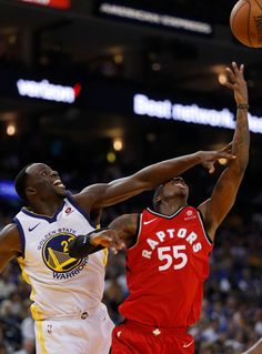 f81a65fad5b8 Golden State Warriors  Draymond Green (23) fouls Toronto Raptors  Delon  Wright (