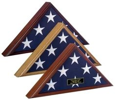 "Veteran Flag Case  Veteran Flag Display Case -Cherry Will Hold Burial Flag     	For 5'x 9.5' Flag (Measure your flag before ordering!) 	Available in Heirloom Walnut, Cherry or Oak Finish 	Glass Front 	Removeable Back Panel With Turn Button Closures 	Wall Mountable With Hardware Included 	Inside Dimensions: 22 1/8"" W x 11"" H x 2 5/8"" D 	Outside Dimensions: 25 1/2"" W x 12 1/2"" H x 3 1/4"" D 	Made In America 	Measure your flag first to ensure you are ordering the correct size flag case…"