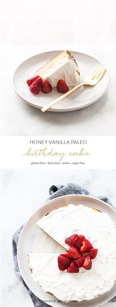 Honey Vanilla Paleo Birthday Cake
