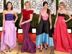Color Blocking Trend on the Red Carpet at the Golden Globes  #GoldenGlobes #RedCarpet