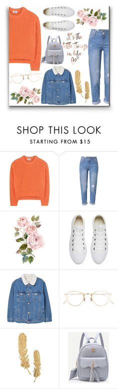 """""""Başlıksız #125"""" by aycanyl ❤ liked on Polyvore featuring Acne Studios, WithChic, Converse, MANGO and Eyevan 7285"""