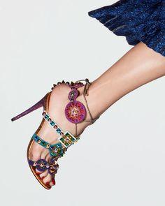 Christian Louboutin Kaleikita Spiked Lace-Up Sandal