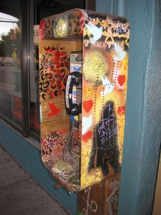 Pay Phone Booth | Eclectix Arts: The Rare Phone Booth, Embellished