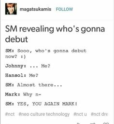 This cracked me up hahahaha! But please, let Mark take a break SM!