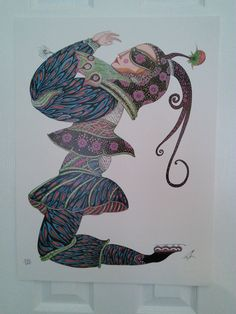 Toller Cranston Lithograph  Skater  - Signed Male Figure, Whimsical, Paintings, Creative, Artist, Artwork, Ebay, Women, Music