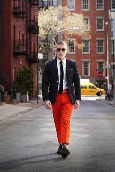 Men's Orange Style Inspiration | Famous Outfits