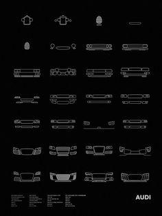 "Models shown: 1907 HORCH 26/65 PS / 1924 TYPE M / 1936 AUTO UNION C-TYPE / 1937 AUTO UNION TYPE C STREAMLINER / 1938 AUTO UNION D-TYPE /1956 DKW MONZA / 1968 100 / 1969 F103 / 1980 QUATTRO / 1985 SPORT QUATTRO S1 / 1987 90 QUATTRO 20V / 1988 V8 / 1991 AVUS QUATTRO / 1994 RS2 AVANT / 1995 S6 / 1996 S8 / 1998 TT / 1999 ALLROAD QUATTRO / 2000 R8 LE MANS PROTOTYPE / 2000 RS4 / 2006 R8 / 2007 A5 / 2008 RS6 / 2009 R15 TDI / 2009 TT RS / 2012 E-TRON / 2013 RS 7 / 2017 R8 V10 PLUS Size: 18"" x…"