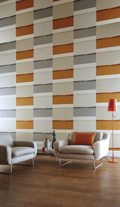 Wall covering from Landscapes, Harlequin. #GoodrichGlobal #PoshLiving #GoodDesign