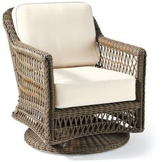 Hampton Seating in Driftwood Finish ($365) ❤ liked on Polyvore featuring home, outdoors, patio furniture, all weather patio furniture, woven patio furniture and all weather outdoor furniture