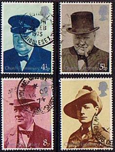 Great Britain 1974 Churchill Set Fine Used SG 958 - 961 Scott 724 - 727 Other British Stamps HERE: