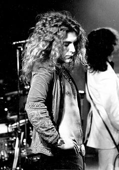 Robert Plant on stage at Gaumont Theatre in Southampton, 1973.