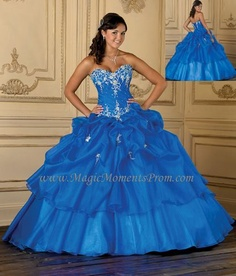 What's not to love about this princess qown?  Quinceanera 26635 Ball Gown Dress $370 #sweet16 #quinceanera #prom