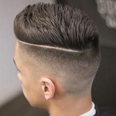 High Fade Comb Over Haircut