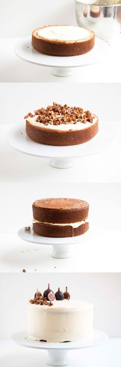 Earl Grey & Fig Cake with a nutty fig filling and mascarpone and cream cheese frosting, a simply beautiful and delicate cake that is perfect for any occassion