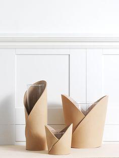 Smålands Skinnmanufaktur - Vase with leather cover, L