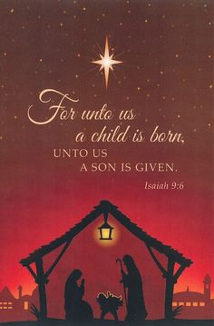 For unto Us a Child Is Born (Nativity), Christmas Blessings, Christmas Wishes, Christmas Greetings, Winter Christmas, Christmas Holidays, Christmas Cards, Jesus Born Christmas, Merry Christmas Religious, Christmas Printables