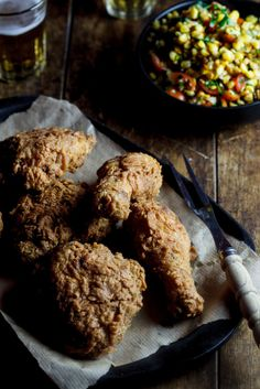 The Ultimate Fried Chicken and Roasted Corn Salad