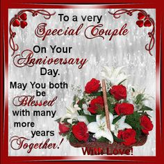Anniversary/To a Couple section. This ecard can be sent to any couple on their Anniversary with your love! Permalink : http://www.123greetings.com/anniversary/wedding_anniversary/couple/with_love_to_both_of_you.html #weddinganniversaryquotes