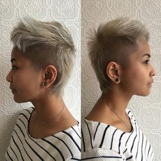 All sizes   Short Platinum Blonde Mullet with Shaved Sides and Textured Top Lengths   Flickr - Photo Sharing!