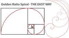 How to create Golden Ratio spiral in Illustrator Tutorial the easy way Golden Ratio Spiral, Illustrator Tutorials, Tool Design, Vector Free, Symbols, Letters, Create, Illustration, Easy
