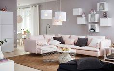 Canapé cosy rose poudré, Ikea - Marie Claire Maison