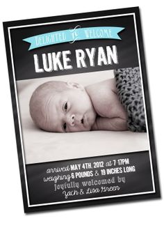birth announcement  baby annoucement girl or boy  by jarsofgrace, $15.00