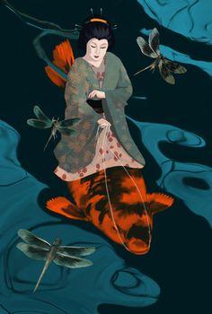 Daria Petrilli - Riding the carp