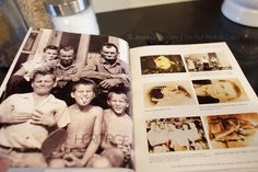 Make a Heritage Blurb Book with ancestors' photos including captions containing name and a number - number links to Genealogy Chart scanned into book.