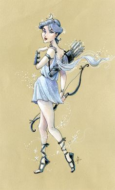 Artemis - Greek goddess of the hunt, the moon, and maidens
