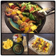 grilled shrimp and pineapple skewers with a cilantro lime dressing ...