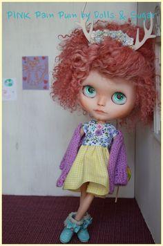 OOAK custom Blythe Doll by Dolls & Sugar PINK by DollsandSugarSHOP