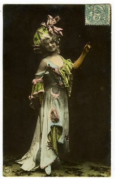 C1907 Pretty Young Wild Costume Beauty Tinted Photo Postcard | eBay