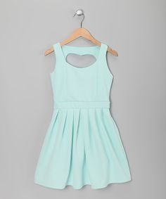 Take a look at this Bleached Aqua Heart Cutout Girl's Dress on zulily today! $14.99