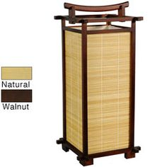 Red Lantern Oriental Furniture Walnut Table Lamp with Wood Shade at Lowe's. This imported Nara lamp subtly incorporates traditional Asian design into a distinctively modern form. Home Decor Furniture, Home Furnishings, Chinese Lamps, Chinese Lanterns, Bamboo Table, Bamboo Floor, Shoji Screen, Asian Architecture, Bamboo Shades