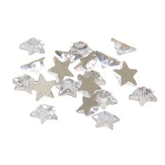 Nizi Jewelry For 3D Nails Art Deacrations 5pcs Strass Glass Non Hotfix Crystal Color Rhinestones (6mm Five-pointed Star) ** You can get more details by clicking on the image.