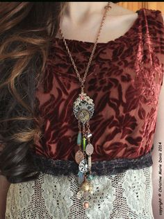 long and layered GYPSY charms vintage by Christine Marie Davis