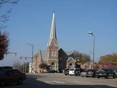 First Presbyterian Church Downtown Athens, Alabama. Corner of Washington Street and Jefferson Street.