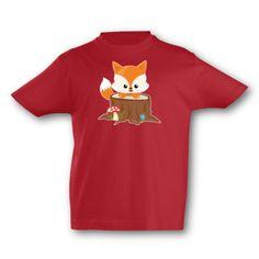 Kinder T-Shirt Süßer Fuchs. T-Shirt Süßer Fuchs, kurze Arme, Flexdruck