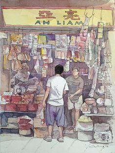 LuxArtAsia: Foo Kwee Horng celebrates a Nation of Shopkeepers @ Utterly Art, Singapore