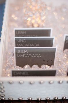Love this place card crystals
