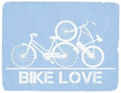"""Haha Perhaps too much? @Sherry @ Young House Love. """"Bike Love"""" Graphic Print by WilliamDohman"""