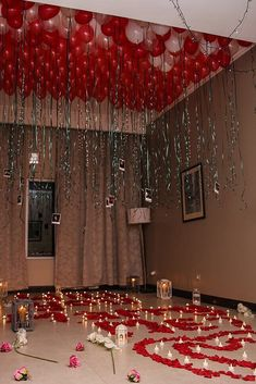21 So Sweet Valentines Day Proposal Ideas Room Full Of Balloons