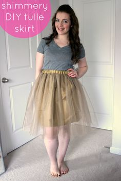 Create / Enjoy: Simple tulle party skirt in shimmery copper