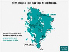 South America is the size of three Europes and other geography facts your map is lying about